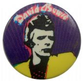 David Bowie - 'Sketch Purple' Button Badge